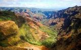Velký kaňon Pacifiku: 900metrová propast obklopená havajskými palmami