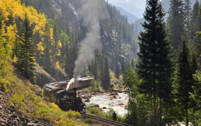 železnicí z Duranga do Silvertone | Durango