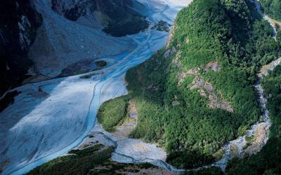 Nový Zéland, ledovec Franz Joseph