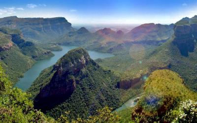 z vyhlidky Three Rondavels | Blyde River Canyon