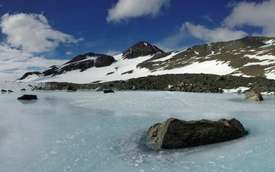 V okolí Union Glacier Camp
