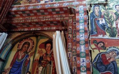 Interiér kostela Azuwa Maryam | Etiopie