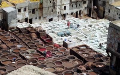 Koželužny ve Fesu | Maroko