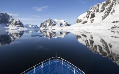 Antarktida - průliv Lemaire