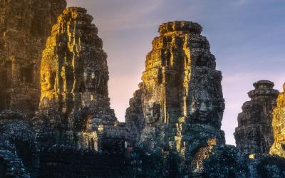 bayon temple vychod slunce