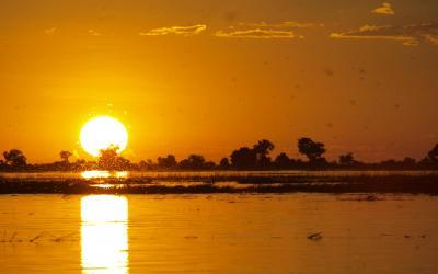 Neopakovatelné západy slunce v Chobe NP | Botswana
