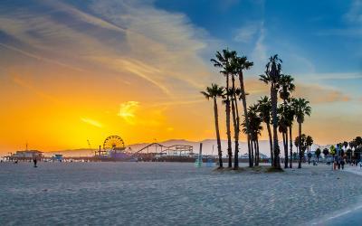 USA   Los Angles   Santa Monica Beach
