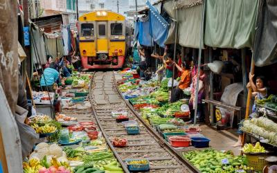 Thajsko | Bangkok_Maeklong Market