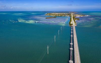 Overseas Highway - příjezd na Key West