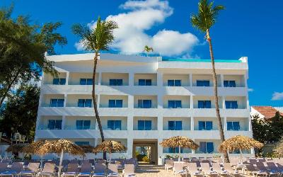 Beach front hotel building