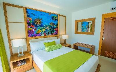 Double Beach pool view room
