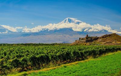 Klášter Khor Virap s horou Ararat | Arménie