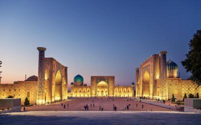 UNESCO | náměstí Registan, Samarkand | Uzbekistán