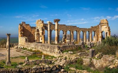 Volubilis, kdysi centrum obchodu mezi Římem a Berbery | Maroko