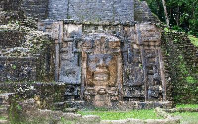 bigstock-Olmec-Mask-Temple Lamanai Belize-68131336