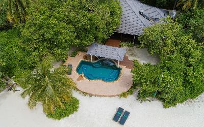 Two Bedroom Beach Pool Residence Aerial View
