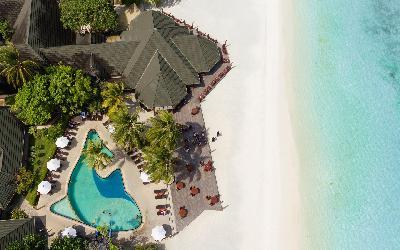 Beach & Pool Aerial View